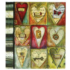 Hearts and keys and a beautiful handmade feel. This is Lisa Kaus!