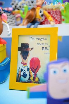 This Toy Story Birthday Is What Every Little Buzz Lightyear's Dreams Are Made Of - Pin for Later: This Toy Story Birthday Is What Every Little Buzz Lightyear's Dreams Are Made Of - Toy Story Baby, Toy Story Theme, Toy Story Birthday, Third Birthday, Friend Birthday, Boy Birthday, Birthday Ideas For Boys, Toy Story Food, Buzz Lightyear