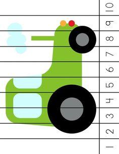 Autism Activities, Counting Activities, Craft Activities For Kids, Numbers Preschool, Kindergarten Activities, Preschool Activities, Transportation Theme Preschool, Farm Unit, Child Teaching