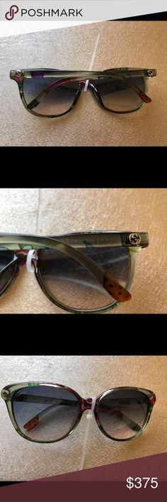 78cbf1dbc9 Rare Edition Gucci Floral Sunglasses GG 3635 2E314 100% Authentic Brand new  never used no