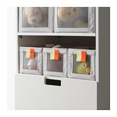 IKEA - SLÄKTING, Box, , Fits perfectly in STUVA storage system or as a freestanding box for small items or clothes.You can quickly see what's inside the box thanks to the mesh front.Easy to pull out as the box has a loop at the front.Can be folded to save space when not in use.