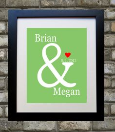 Unique Engagement Gift Bride to Be Wedding Gift by Printsinspired, $18.99