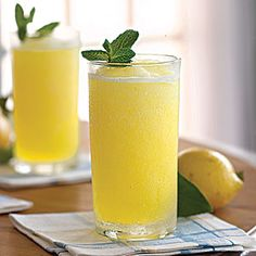 Frozen Vodka Lemon Slush. Yum!