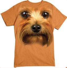 Terrier in Your Face T Shirt Pick Your Size Youth Medium to 6 X Large Animal Print Tees, Shirt Shop, T Shirt, Cool Artwork, Short Sleeve Tee, Terrier, Medium, Face, Youth