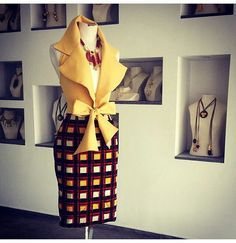 Gold top and multicolored skirt African Inspired Fashion, African Print Fashion, Africa Fashion, Fashion Prints, Love Fashion, African Attire, African Wear, African Women, African Style