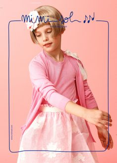 """What a wonderful rosebud!"" said Mom looking at me... #MiMiSol #imeldebronzieri #childrenswear #springsummer2014 #SS14 #pink #ceremony #dress #rosebud #lightness #fashion #kids"