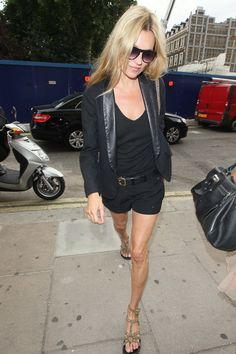 Kate moss shorts and blazer