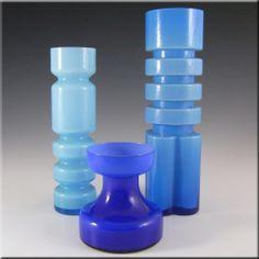 Ryd 1970's Swedish/Scandinavian Blue Glass