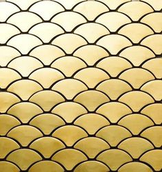 LULUSOSO.COM - MI02 Fan shape gold stainless steel tile