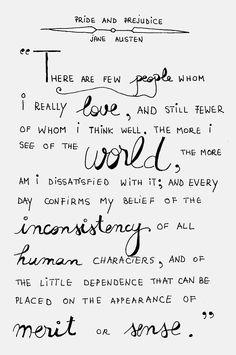 Jane Austen - Pride and Prejudice Jane Austen Quotes, Jane Austen Books, Movie Quotes, Book Quotes, Life Quotes, The Words, Ernst Hemingway, Pride And Prejudice Quotes, Beautiful Words