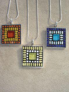 Square Mosaic Pendants by Josh Hilzendeger- Opus Mosaics, via Flickr