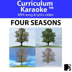Students READ, SING & LEARN along as the curriculum-aligned MP4 song & lyrics video plays, and lyrics & images display on your classroom whiteboard and/or other technological devices! 'Four Seasons (Grades Pre K-3) is a professionally produced, curriculum-aligned song that helps students to recognize that the year