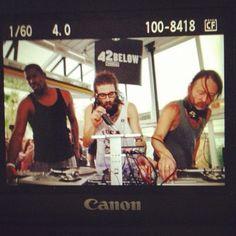 guys on film: Flying Lotus, Gaslamp Killer and Thom Yorke throwing down in the commune at Desert Gold weekend deux.