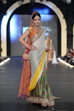 Sari by Nomi Ansari at PFDC Bridal Week 2013.
