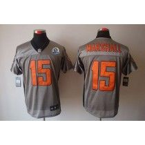 nike bears 15 brandon marshall grey shadow with hall of fame 50th patch mens stitched