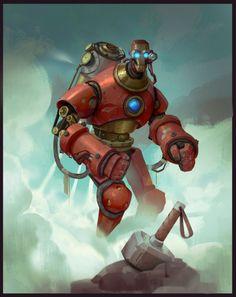 Iron Man Steampunk by Nikonov Aleksandr (Niconoff)