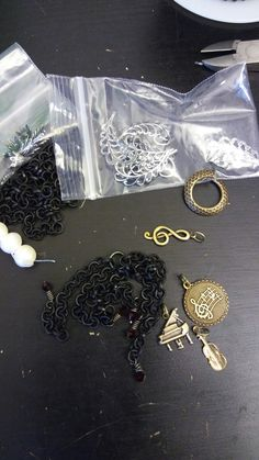 WTW 8/24 B'sue chain, charms and lovely silver is on my worktable today!