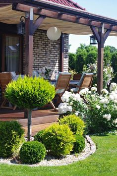 We've compiled a list of cheap landscaping ideas that will not only be fun to . - Amazing Landscaping Tips - We've compiled a list of cheap landscaping ideas that will not only be fun to start, but will als - Pergola Patio, Backyard Patio, Backyard Landscaping, Backyard Ideas, Landscaping Blocks, Pool Ideas, Cheap Landscaping Ideas, Small Gardens, Outdoor Gardens