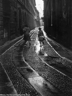 via Campo Lodigiano, foto Mario de Biasi   da Milàn l'era inscì