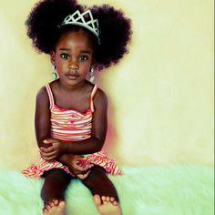 Afro puffs! Beautiful girl