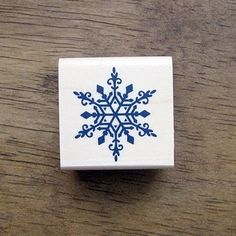 Snow Flake Rubber Stamp by giftaholic on Etsy, $10.50