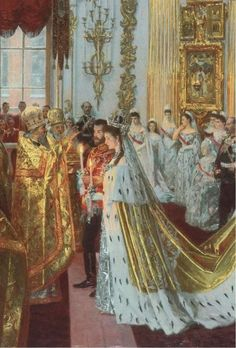 Alexandra Feodorovna, Anastasia Romanov, La Familia Romanov, Christian Ix, House Of Romanov, Wedding Painting, Catherine The Great, Tsar Nicholas Ii, Royal Clothing