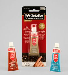 Rub N' Buff is a really great product to use on metals. Because it is made with a wax the colors don't chip like paint sometimes will. You can use it on old metal hardware. Use a stiff bristle brush and painted it on. A little goes a long way. You will have a tiny tube for YEARS!