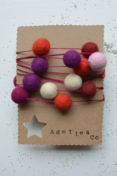 Sugar plum felt garland