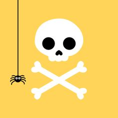 scary-cute halloween skull and crossbones decorations | weeDECOR