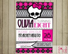 Monster High Birthday Invitation DIY Printing