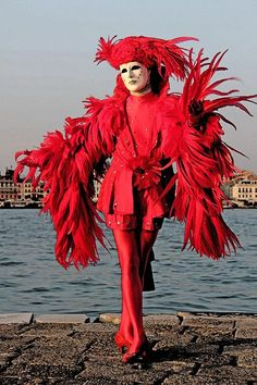 Crimson Red at the Carnevale in Venice, Italy.  Photo by Per Lidvall  www.AspectusForma.com