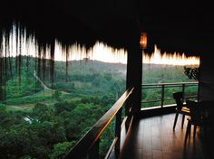Samboja Lodge, Borneo. Ecotourism, when done right, can help maintain rainforest environments.