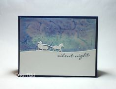 Starry Sky by Dawn Tidd.  Stampin Up Jingle All the Way and Sleigh Ride edgelits.  Salt technique.  Lovely!
