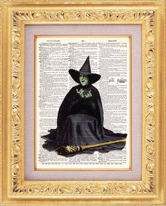 Wizard Of Oz Wicked Witch of The West Vintage by TheRekindledPage, $6.99