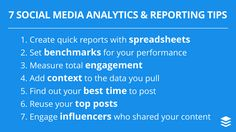 7 Social Media Analytics and Reporting Tips for Becoming a Data-Savvy Marketer Marketing Tools, Business Marketing, Content Marketing, Social Media Marketing, Social Media Updates, Top Social Media, Social Media Analysis, Best Time To Post, Facebook Marketing