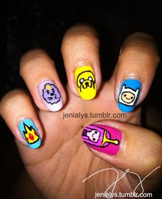 adventure time nails! this is by far the best day of my life!