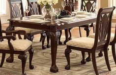 Homelegance Norwich Leg Dining Table Set