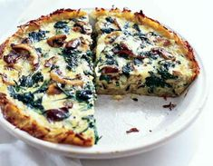 Awesome Cuisine gives you a simple and tasty Spinach Mushroom Quiche Recipe. www.awesomecuisine.com