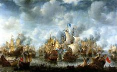 Joseph Leopold Eybler Work: Clarinet Concerto in B-flat major written for Anton Stadler.I: Allegro maestoso Mov. Canvas Paper, Oil On Canvas, Canvas Prints, Framed Prints, Anglo Dutch Wars, Nautical Wall Art, Ship Paintings, Dutch Painters, A4 Poster