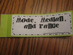 Mode, Median, and Range book.