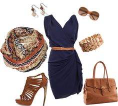 """""""Navy and camel. Nice for summer..."""" by stephanie-stewart-henry on Polyvore"""