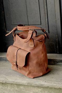woman bag natural leather handmade bigger size ladybuq art