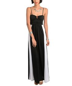 Look what I found on #zulily! Black & White Color Block Maxi Dress #zulilyfinds