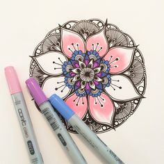 Here's the first mandala that I tried to draw today. #mandala #copic #design #art