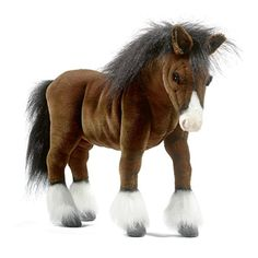 Hansa Clydesdale Large 20 Inch Stuffed Horse Horse Gifts, Sports Toys, Clydesdale Horses,