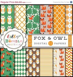 Hey, I found this really awesome Etsy listing at https://www.etsy.com/listing/160136406/50-off-fox-digital-papers-woodland