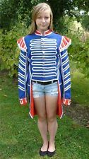 THEATRE PANTOMIME CARNIVAL FANCY DRESS 1700s BLUE SOLDIER TAIL JACKET