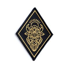 The official patch for the almighty Thunder Bison. This patch is sew-on OR Iron-on. It's metallic gold embroidered on a solid woven black...