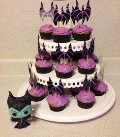 Maleficent cupcakes.