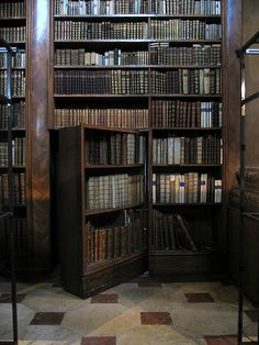 A library with a hidden door entrance/exit has been on my wish list for about as long as I can remember. SO. COOL! |Books||Reading||Library ideas||Old library|